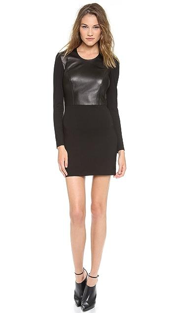 HELMUT Helmut Lang Half Leather Dress