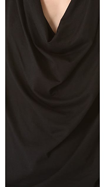 HELMUT Helmut Lang Feather Jersey Draped Top