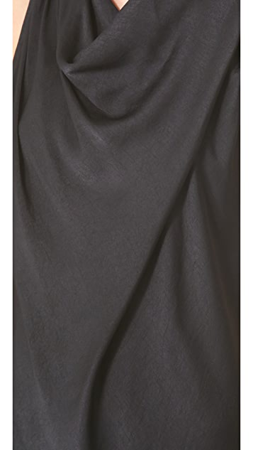 HELMUT Helmut Lang Coma Sheen Cowl Neck Top