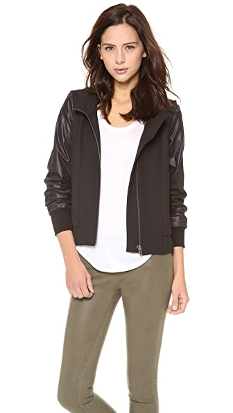 HELMUT Helmut Lang Moto Stretch Hooded Bomber