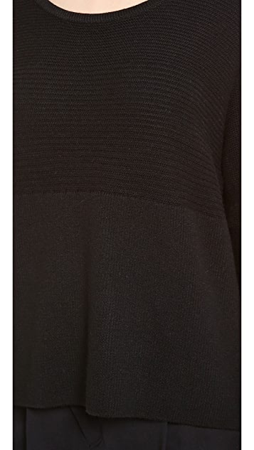 HELMUT Helmut Lang Plush Scoop Neck Sweater