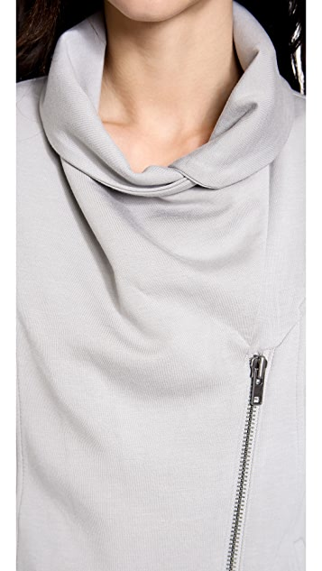 HELMUT Helmut Lang Villous Zip Up Sweatshirt