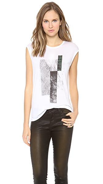 HELMUT Helmut Lang Graph Print Muscle Tee