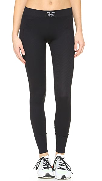 Heroine Sport Ribbed Performance Leggings In Black