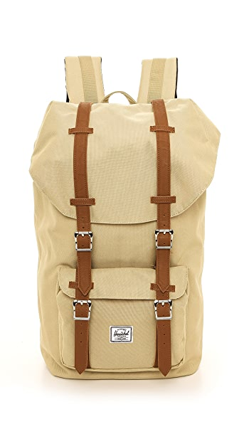 Herschel Supply Co. Little America Backpack with Leather Straps