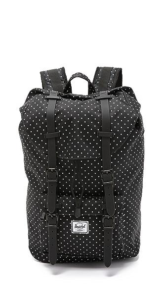 656c0376d1ca Herschel Supply Co. Little America Backpack - Black White Polka Dots ...