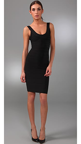 Herve Leger Signature Essentials City Bandage Dress