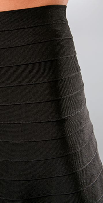 Herve Leger Signature Essentials A Line Skirt