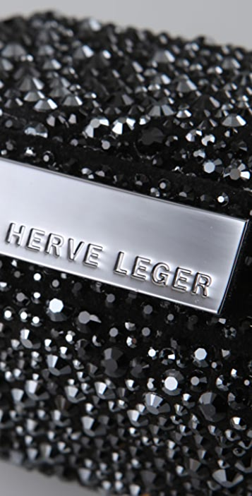 Herve Leger Crystal Clutch