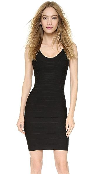 Herve Leger Signature Essentials Scoop Neck Dress online sales