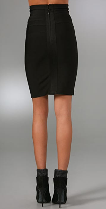 Herve Leger Signature Essentials Above the Knee Skirt