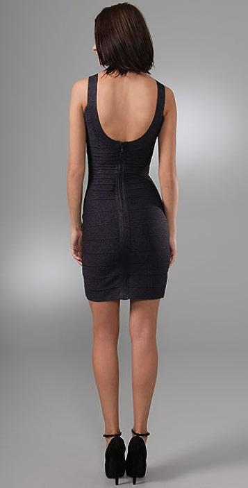 Herve Leger Lurex Essentials City Dress
