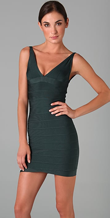 Herve Leger Signature Essentials Dress