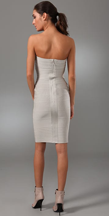 Herve Leger Signature Essentials Strapless Dress