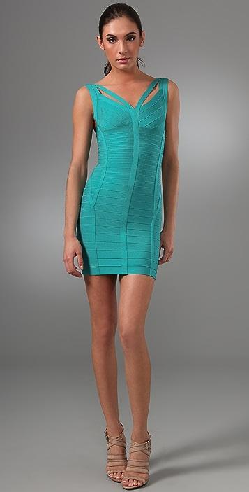 Herve Leger Signature Essentials Dress with Straps