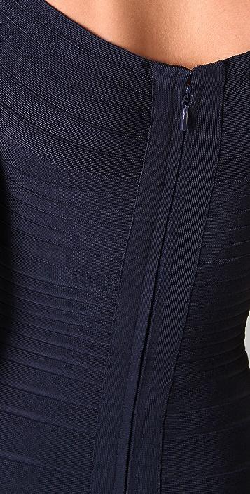 Herve Leger Off Shoulder Dress