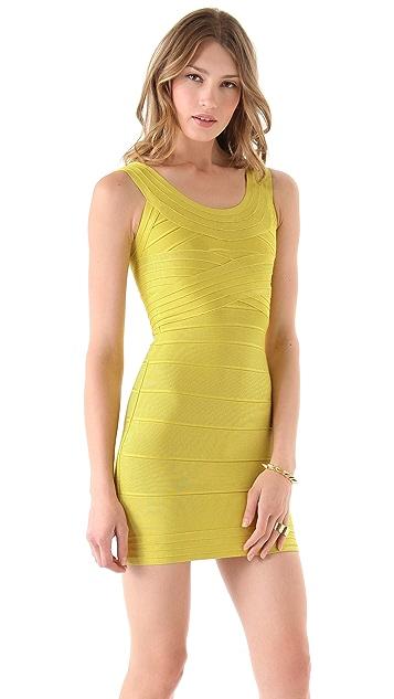 Herve Leger Round Neck Dress