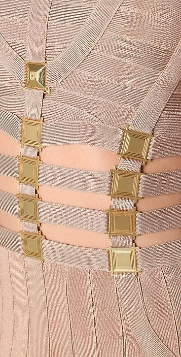 Herve Leger Cutout Dress