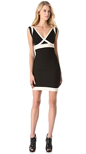 Herve Leger Two Tone Ilia Dress
