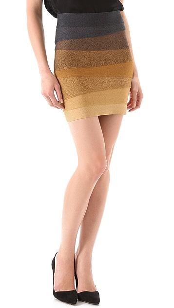 Herve Leger Ombre Skirt
