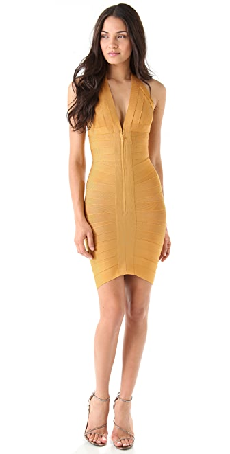 Herve Leger Halter Dress