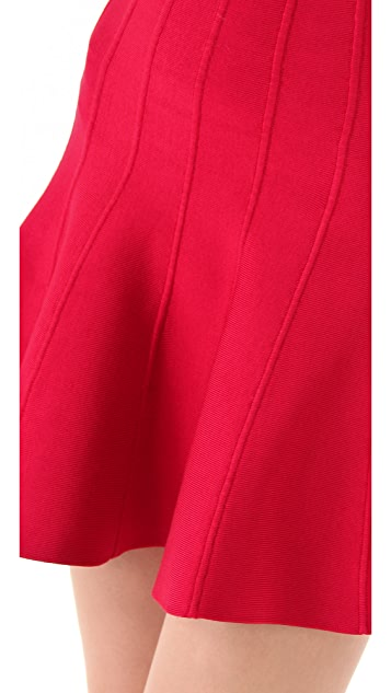 Herve Leger Engineered Tubular Knit Skirt