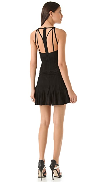 Herve Leger V Neck Dress with Cutout