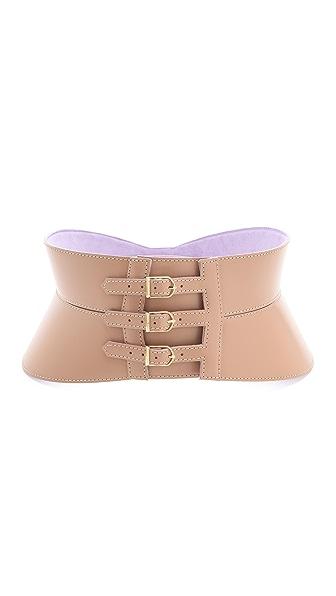 Herve Leger Leather Belt