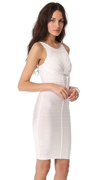 Herve Leger Brookelle Sleeveless Dress
