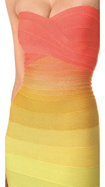 Herve Leger Izzie Strapless Dress