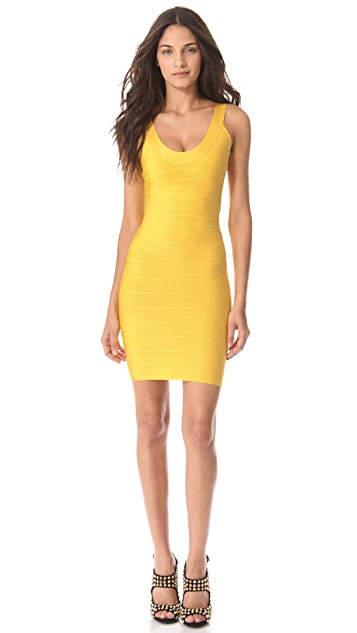 Herve Leger Sydney Scoop Neck Dress