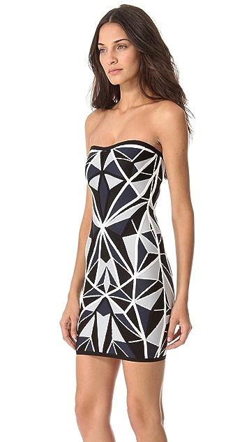 Herve Leger Jamari Strapless Dress