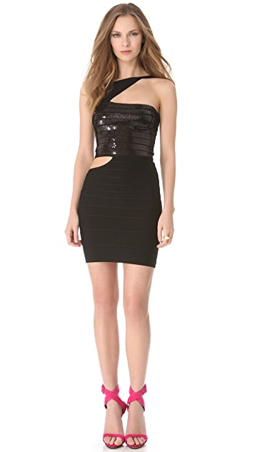 Herve Leger Danna Sequin Dress