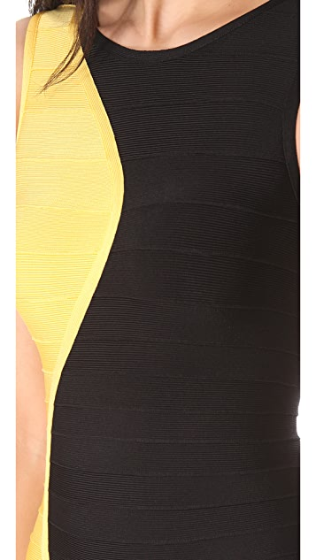 Herve Leger Pailey Combo Dress