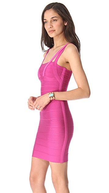 Herve Leger Zinnia Sleeveless Dress