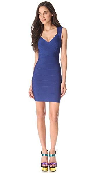 Herve Leger Sarai Sleeveless Dress