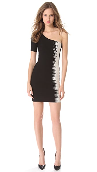 Herve Leger Cintia One Shoulder Dress