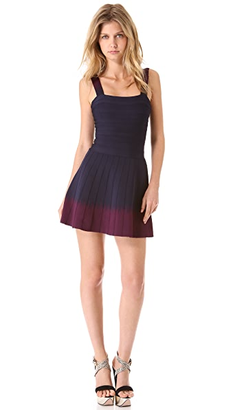 Herve Leger Sleeveless Mid Thigh Dress