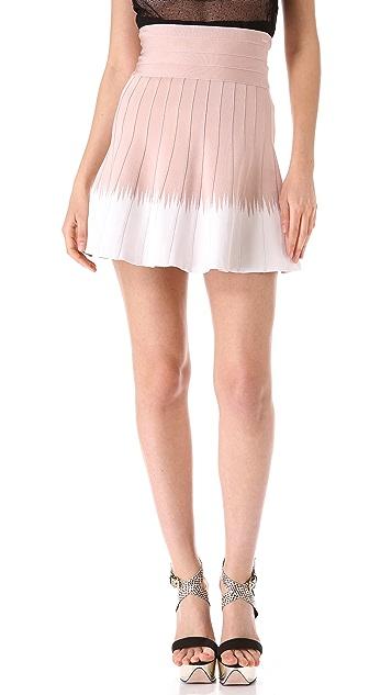 Herve Leger Eden Flared Skirt