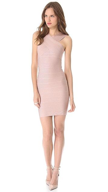 Herve Leger Stella Cross Front Dress