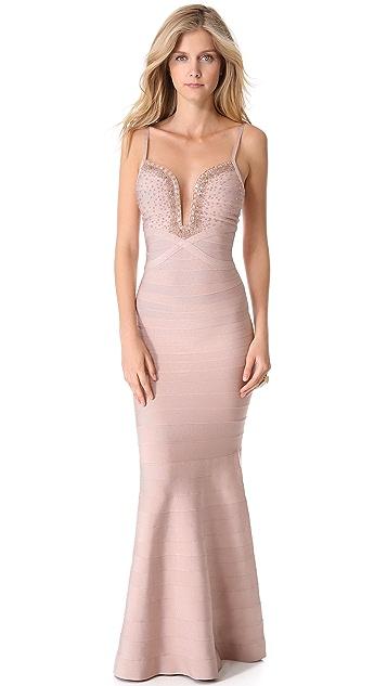 Herve Leger Priscilla Maxi Dress