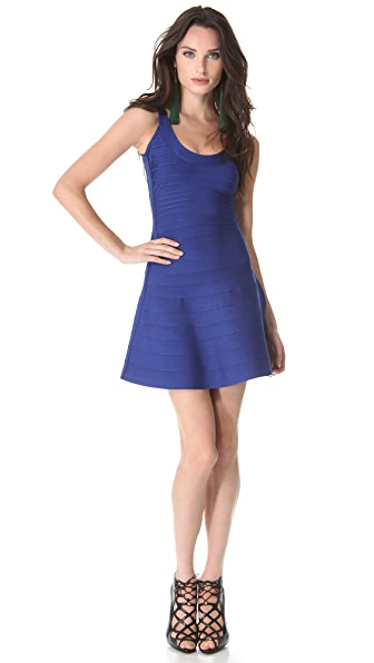 Herve Leger A Line Mini Dress