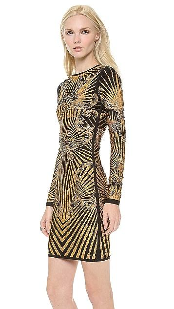 Herve Leger Giana Patterned Dress