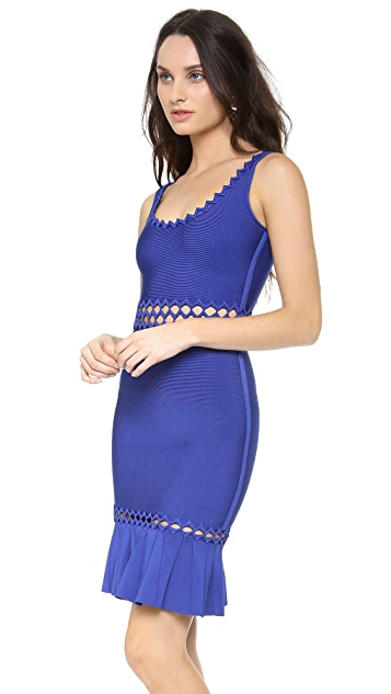 Herve Leger Sleeveless Cutout Dress
