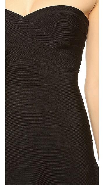 Herve Leger Kari Strapless Dress