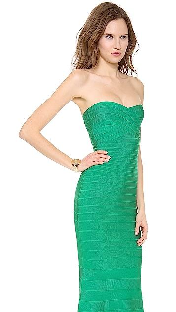 Herve Leger Sara Strapless Dress