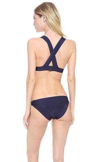 Herve Leger Triangle Bikini