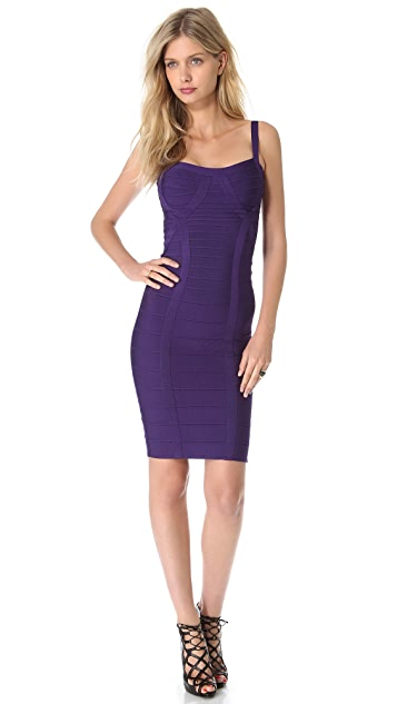 Herve Leger Judith Cocktail Dress