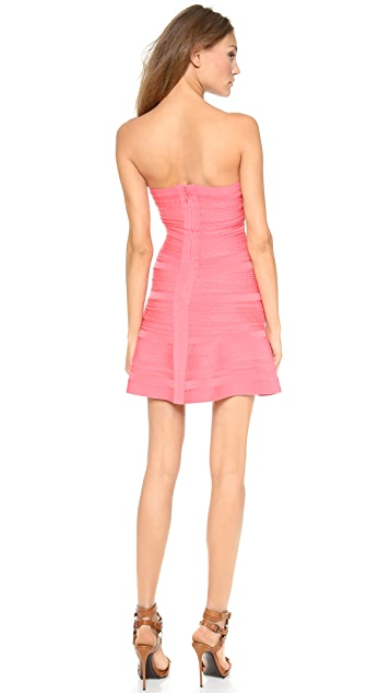 Herve Leger Akari Strapless Dress