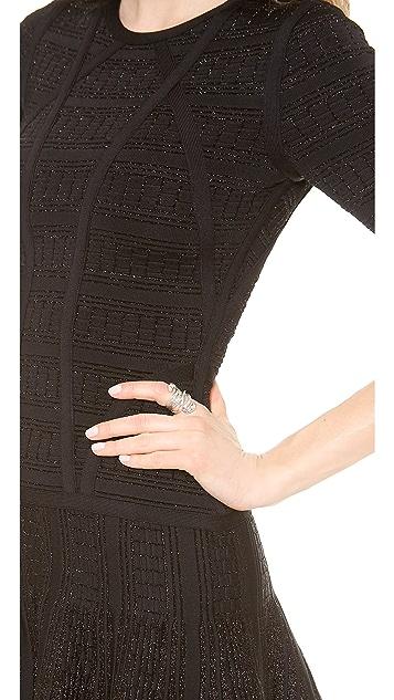 Herve Leger Clara Drop Waist Dress